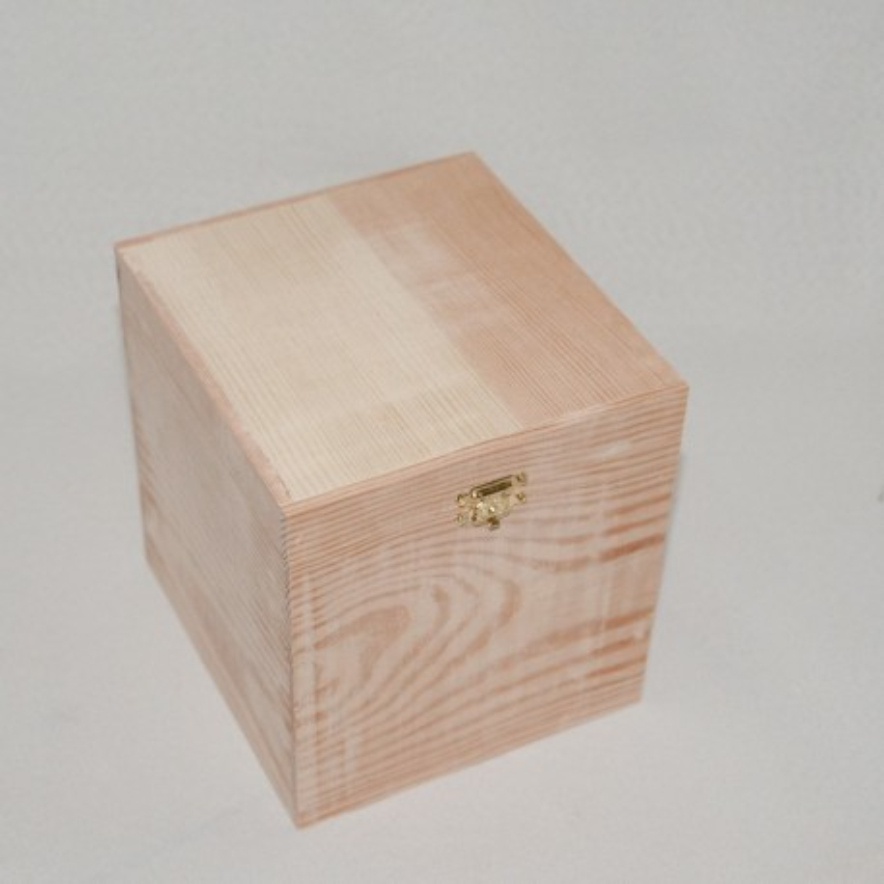Coffret cube en pin