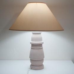 Pied de lampe tourné en bois