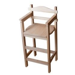 Chaise haute en bois Sagard en sapin brut