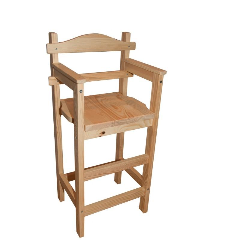 """Chaise haute en bois """"Sagard"""" en pin massif"""