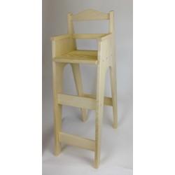 """Chaise haute en bois pour table bar """"Brimbelle"""" en sapin brut"""