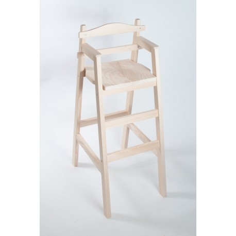 """Chaise haute en bois pour table bar """"Dahut"""" en sapin brut"""